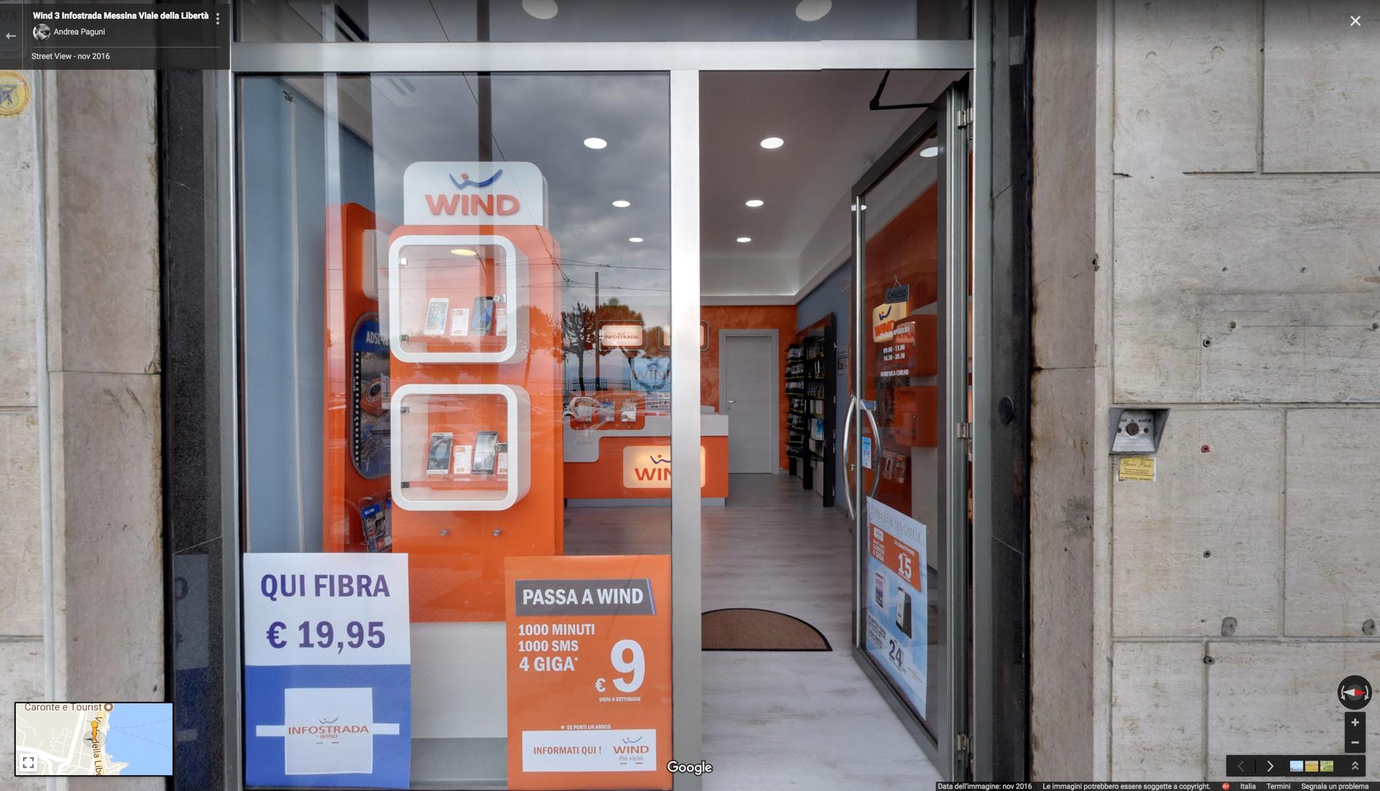 Wind 3 Infostrada Messina Viale della Libertà